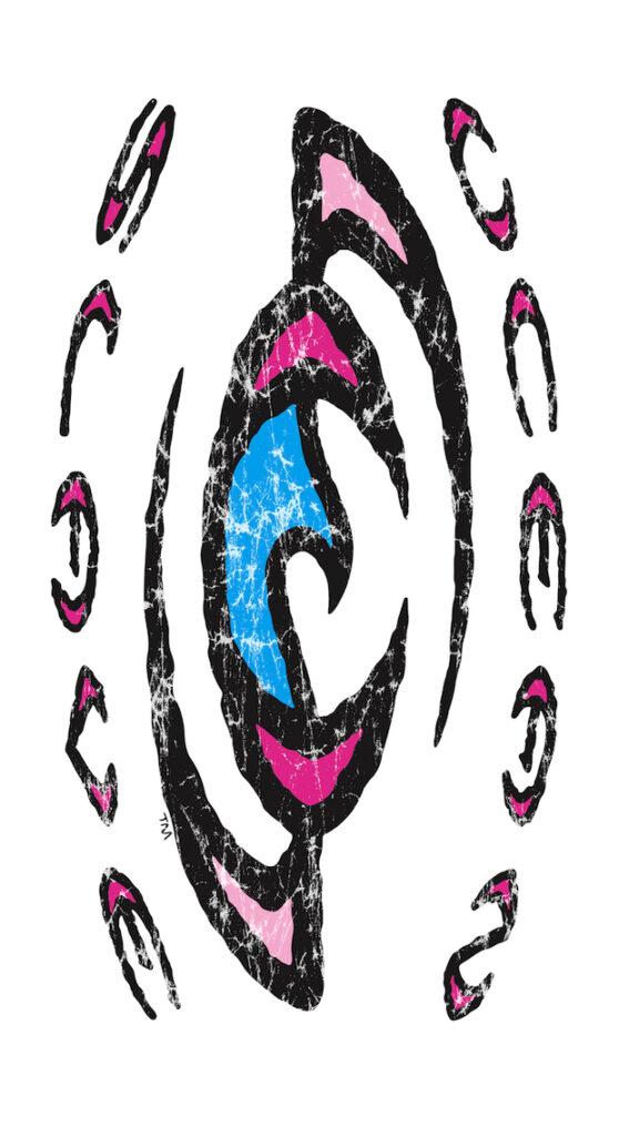 Boarding-Wallpapers-Ocean-Slave-logo-tribal-pink-Wall