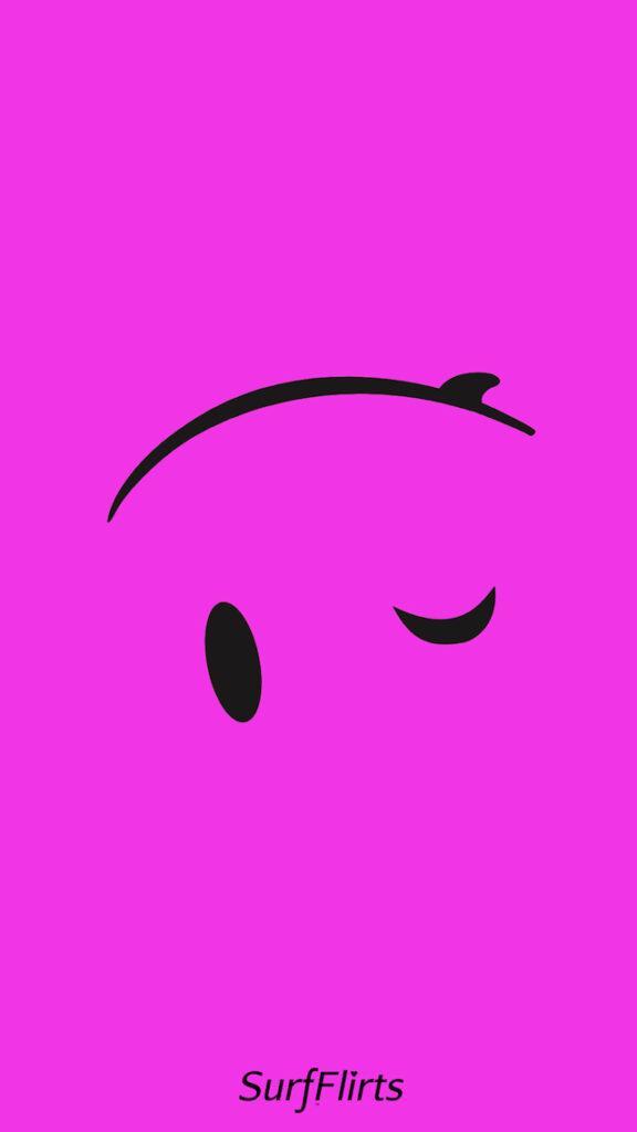 Boarding-Wallpapers-surfergirl-SurfFlirts-pink-surfboard-smiley-face-wink-upside-down