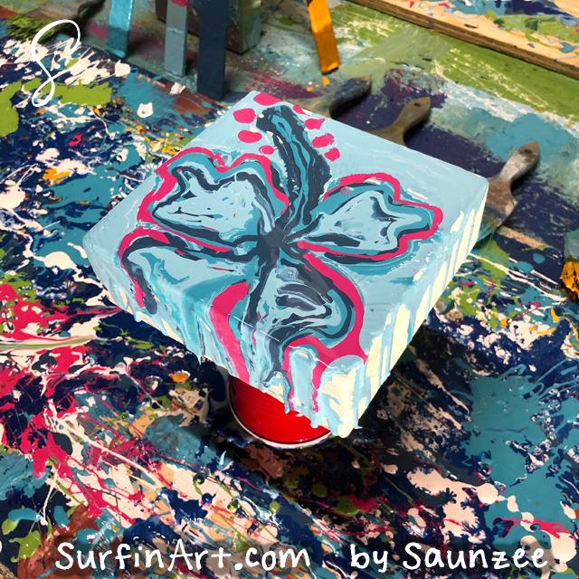 Surfin-Art-Studio-Paint-Pouring-Art-Hibiscus-Flower-5013