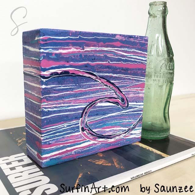 Surfin-Art-Wet-Wild-Surfer-Girl-Art-Pink-Waves-8439