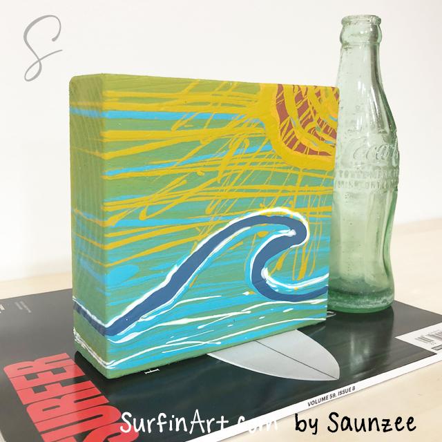 Surfing-Art-Original-Sunset-Beach-Surfing-Culture-Art-8462