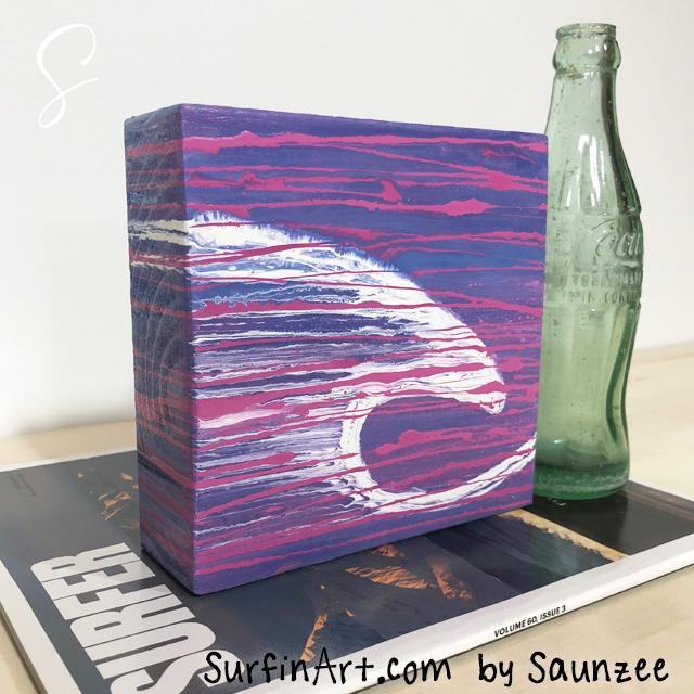 Surfing-Art-Surfer-Girls-Pink-Wave-Pink-Curl-8435