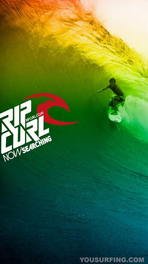 Surfing-Wallpaper-Rip-Curl-Sunset-Surfer-Wall