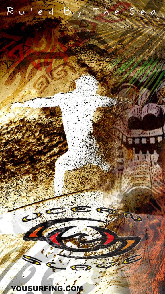 Surfing-Wallpapers-Ocean-Slave-Board-Riders-Hawaiian-Island Volcano-Wall