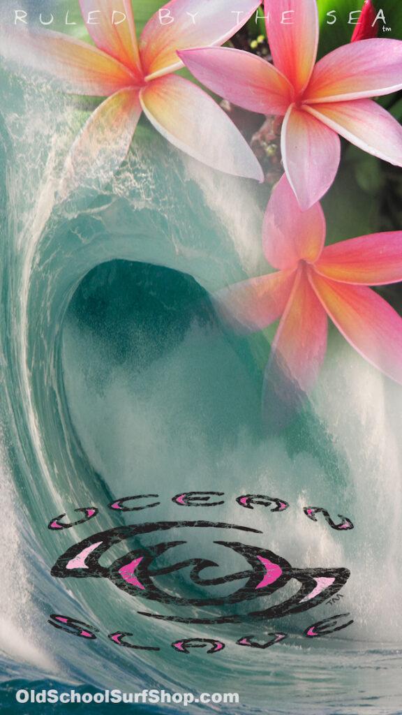 Surfing-Wallpapers-Ocean-Slave-Bombin-Waves-island-pink-frangipani