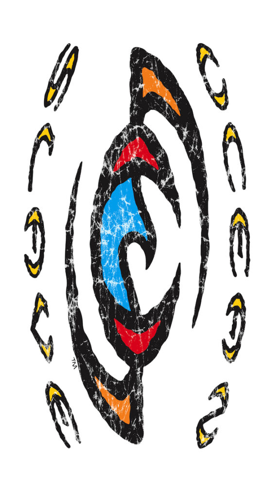 Surfing-Wallpapers-Ocean-Slave-logo-tribal-ink-Wall